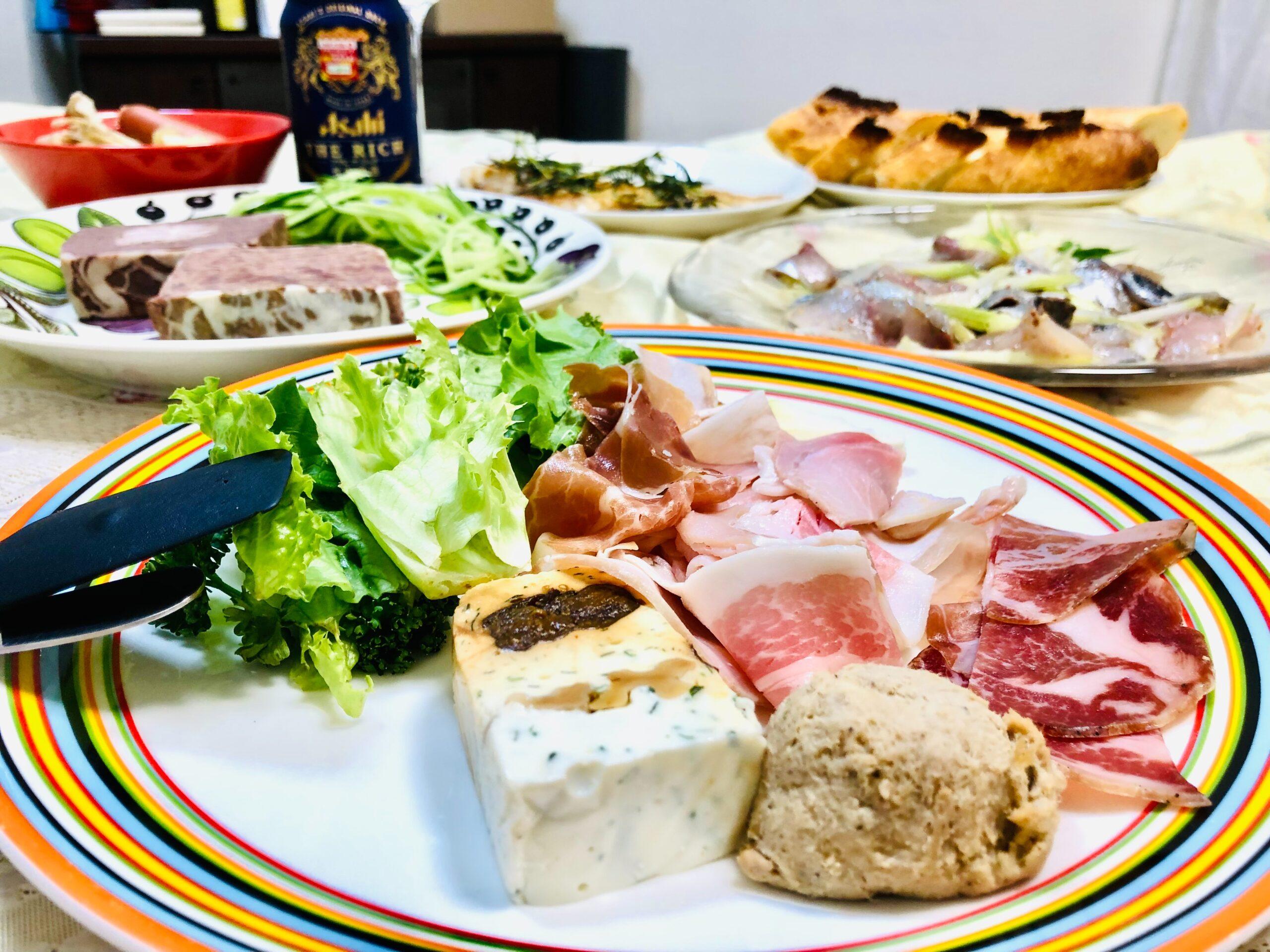 今日の晩酌:フランス祭り:パテ・リエット・テリーヌ・カヌレ:2021年10月6日